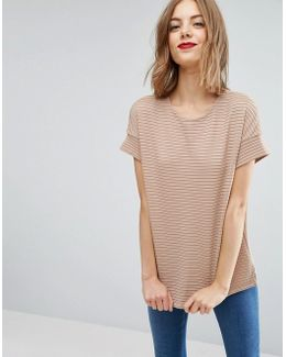 Shell Top In Clean Ponte Rib