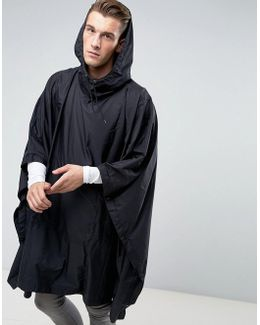 Packable Poncho In Black