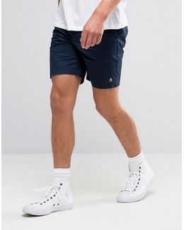 P55 Chino Shorts Slim Stretch Cotton In Navy