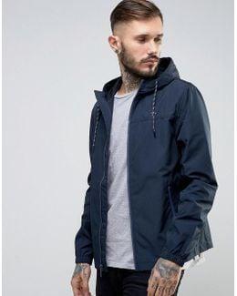 Lightweight Jacket Hooded Hydro Print In Navy