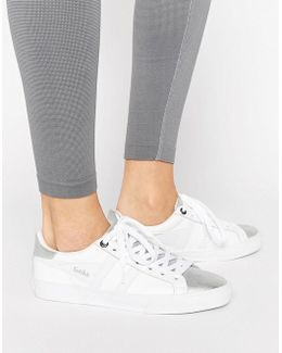 Orchid White And Silver Sneakers