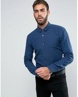 By Boss Ero 3 Washed Pique Shirt Slim Fit
