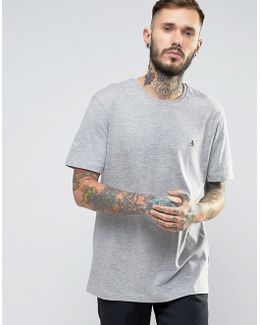 Small Logo T-shirt Slim Fit In Gray Marl