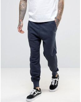 Cuffed Jogger Slim Fit Small Logo In Navy
