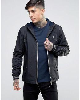 Lightweight Jacket Hooded Nylon In Black