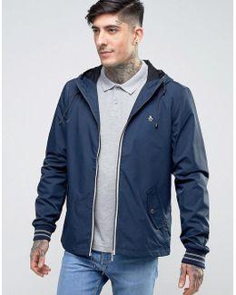 Lightweight Jacket Hooded Nylon In Navy