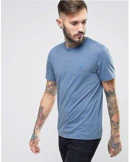 Small Logo T-shirt Slim Fit In Blue Marl