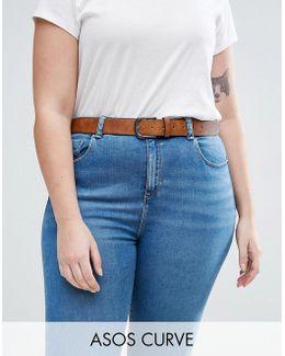 Vintage Tan Jeans Belt
