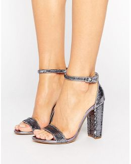 Carrson Two Part Pewter Sandals