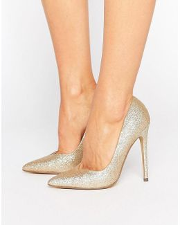 Glitter Pointed Pumps