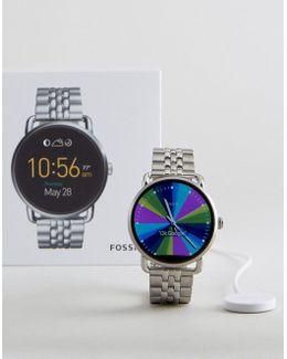 Q Ftw2111 Wander Bracelet Smart Watch In Silver