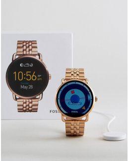 Q Wander Bracelet Smart Watch In Rose Gold