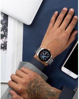 Q Ftw2109 Marshal Bracelet Smart Watch In Silver