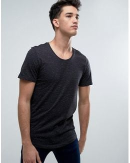 Originals Longline T-shirt With Fleck Detail And Curved Hem