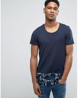 Originals Longline T-shirt With Contrast Curved Hem Panel