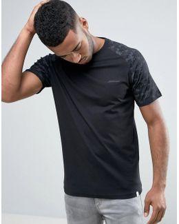 Core T-shirt With Digital Camo Print And Raglan Sleeve