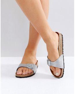 Madrid Silver Magic Galaxy Slide Flat Sandals