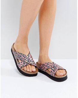 Papillio By Daytona Birko Leo Coral Platform Sandals