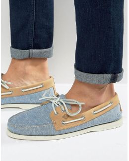 Topsider Linen Boat Shoes