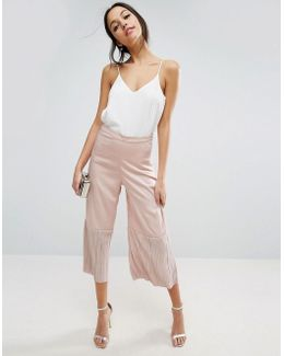 Occasion Culotte With Pleated Hem