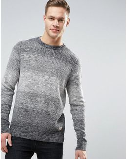 Originals Knitted Jumper With Mixed Yarn Detail
