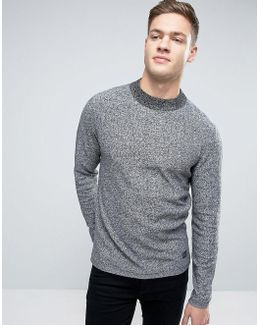 Originals Sweater With High Neck In Melange