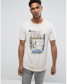 Vintage T-shirt With Vintage Wash Graphic Print