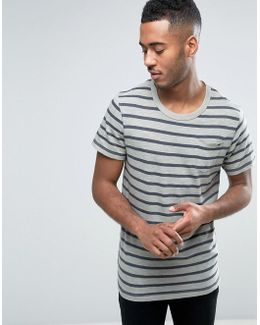 Vintage T-shirt In Stripe With Pocket