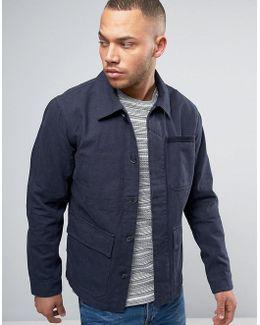 Vintage Worker Jacket With Multi Pockets