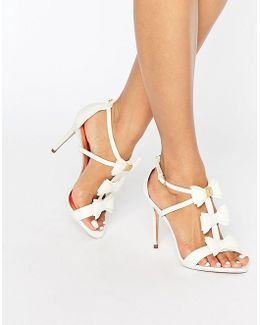 Appolini Ivory Bow Heeled Sandals