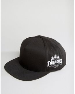 X Thrasher Snapback Cap With Embroidered Side Art