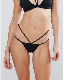 Black Strappy Bikini Bottom