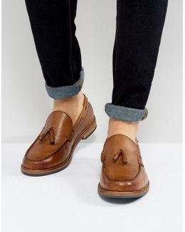 Stratford Tassel Loafers In Tan Leather