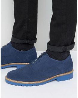 Six Brogues Navy Suede