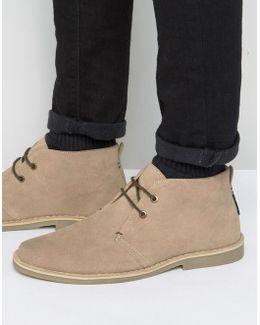 Mocam Desert Boots In Beige Suede