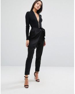 Tailored Pants In Satin