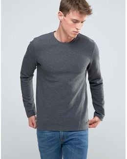 Sweatshirt In Ribbed Marl