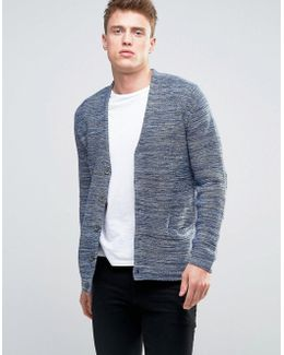 Knitted Cardigan In Mixed Yarn