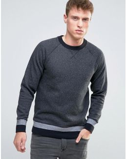Sweatshirt With Cuffed Hem Detail