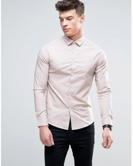 Skinny Shirt In Dusty Pink