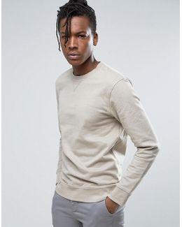 Crew Neck Sweatshirt In Soft Touch Jersey