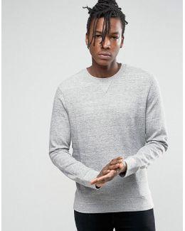 Crew Neck Sweatshirt In Melange Jersey