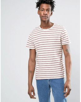 T-shirt With Woven Stripe