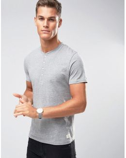 Henley T-shirt With Stitch Neck Detail