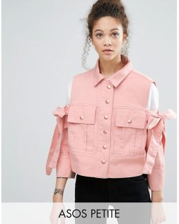 Jacket With Bow Cold Shoulder