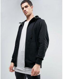 X By O Zip-up Hoodie In Black Bq3092