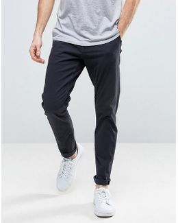 Slim Fit Chinos In Navy