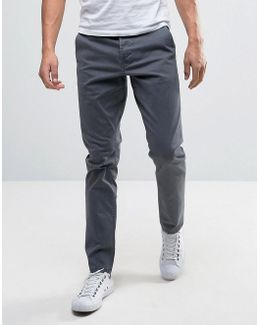 Slim Fit Chinos In Gray