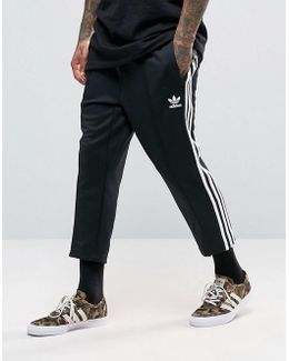 Sst Relax Cropped Joggers In Black Bk3632
