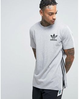 Longline T-shirt In Gray Bk7586